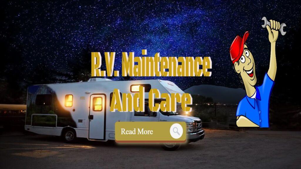 rv maintenance new